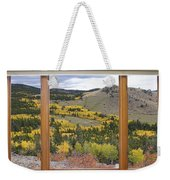 Rocky Mountain Autumn Picture Window View Weekender Tote Bag