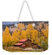 Rocky Mountain Autumn Ranch Landscape Weekender Tote Bag