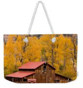 Rocky Mountain Barn Autumn View Weekender Tote Bag