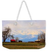 Rocky Mountain Boulder County View Weekender Tote Bag