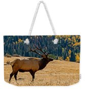 Rocky Mountain Bull Elk Weekender Tote Bag