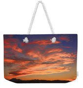 Rocky Mountain Front Range Sunset Weekender Tote Bag