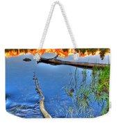 Rocky Mountain Lake Weekender Tote Bag