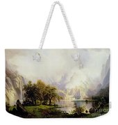 Rocky Mountain Landscape Weekender Tote Bag