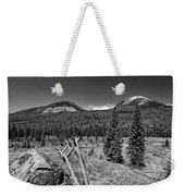 Rocky Mountain National Park Black And White Weekender Tote Bag