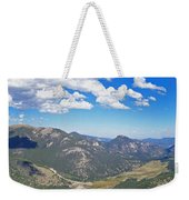 Rocky Mountain National Park Panoramic Weekender Tote Bag