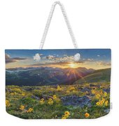 Rocky Mountain National Park Summer Sunflowers Pano 1 Weekender Tote Bag