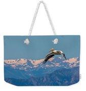 Rocky Mountain Pelican Weekender Tote Bag