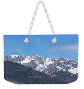 Rocky Mountain Waning Gibbous Moon Set Weekender Tote Bag