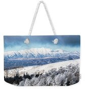 Rocky Mountain Winter Weekender Tote Bag