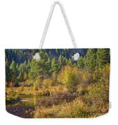 Rocky Mountains Autumn Weekender Tote Bag