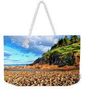 Rocky Oregon Beach Weekender Tote Bag