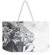 Rocky Outcrop In Snowdonia. Weekender Tote Bag