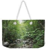 Rocky River In Green Weekender Tote Bag