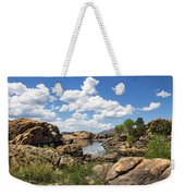 Rocky Shore And Pristine Water Weekender Tote Bag