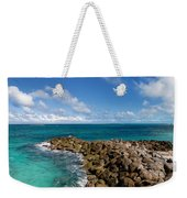 Rocky Shoreline On The Beach At Atlantis Resort Weekender Tote Bag