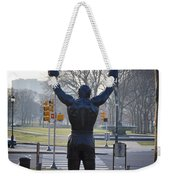 Rocky Statue From The Back Weekender Tote Bag