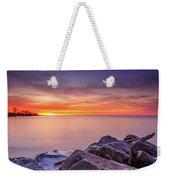 Rocky Sunrise Weekender Tote Bag