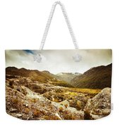Rocky Valley Mountains Weekender Tote Bag