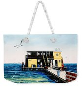 Rod And Reel Fishing Pier Weekender Tote Bag