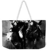 Rodeo In Black Weekender Tote Bag