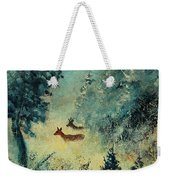 Roe Deers In September Morning Light Weekender Tote Bag