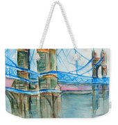 Roebling On The Ohio River Weekender Tote Bag