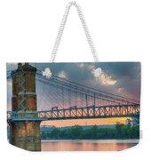 Roebling Suspension Bridge - Cincinnati, Ohio Weekender Tote Bag