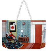 Roger Sterling And Joan Sitting In An Eames Weekender Tote Bag