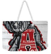 Roll Tide Alabama Crimson Tide Recycled State License Plate Art Weekender Tote Bag
