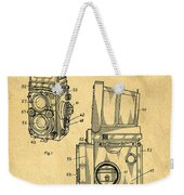 Rolleiflex Medium Format Twin Lens Reflex Tlr Patent Weekender Tote Bag