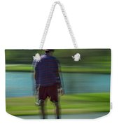 Rollerbladers In Forest Park Weekender Tote Bag
