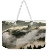 Rolling Fog At Sunrise In The Skofjelosko Hribovje Hills With St Weekender Tote Bag