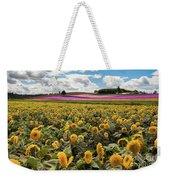 Rolling Hills Of Flowers In Summer Weekender Tote Bag