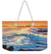 Rolling Ocean Surf - Plein Air Weekender Tote Bag