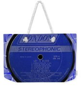 Rolling Stones Let It Bleed Lp Label Weekender Tote Bag