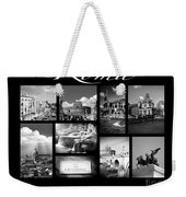 Roma Black And White Poster Weekender Tote Bag