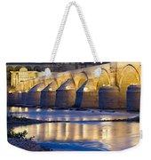 Roman Bridge On Guadalquivir River At Dawn Weekender Tote Bag