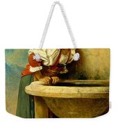 Roman Girl At A Fountain Weekender Tote Bag