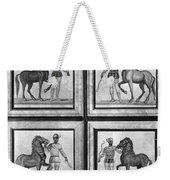 Roman Mosaic: Charioteers Weekender Tote Bag