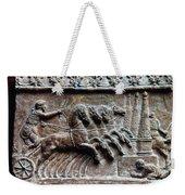 Roman Relief: Chariot Race Weekender Tote Bag