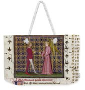 Romance Of The Rose Weekender Tote Bag