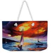 Romancing The Sail Weekender Tote Bag