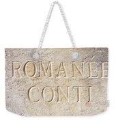 Romanee Conti Weekender Tote Bag