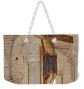 Romanesque Abbey Crucifix Weekender Tote Bag