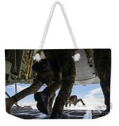 Romanian Paratroopers Perform A Halo Weekender Tote Bag
