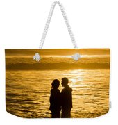 Romantic Beach Silhouette Weekender Tote Bag