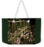 Romantic Garden And Bridge Weekender Tote Bag
