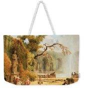 Romantic Garden Scene Weekender Tote Bag by Hubert Robert