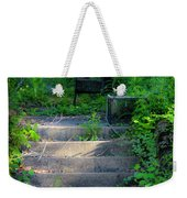Romantic Garden Scene Weekender Tote Bag